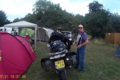 barry and bike at camp site